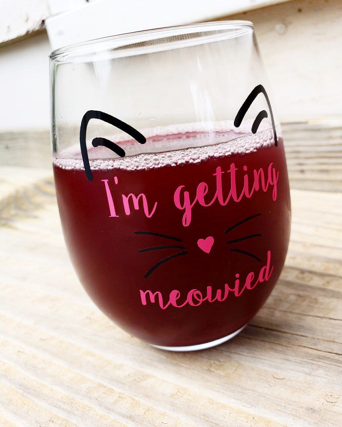 I M Getting Meowied Engagement Gift Future Mrs Wedding Etsy Wedding Planning Glass Engagement Gifts Engagement Gifts For Bride