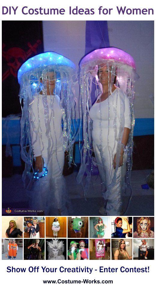 Homemade Costumes for Women & Homemade Costumes for Women | Jellyfish Halloween costumes and Costumes