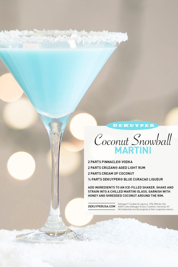 Coconut snowball martini recipe stains cream and snowball for Light cocktails with vodka