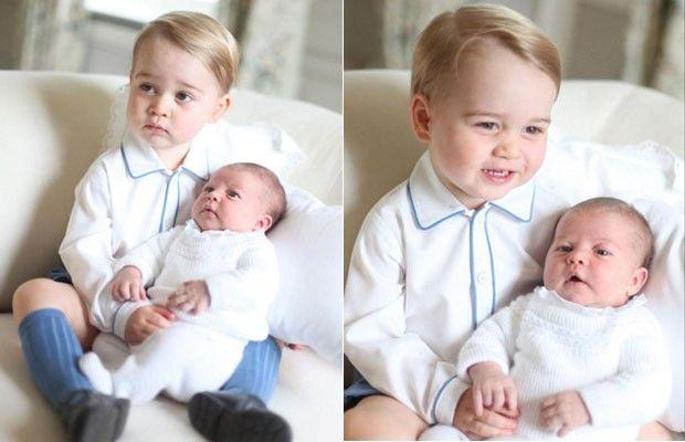 George e a pequena Charlotte (Foto: Divulgação)