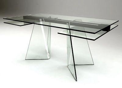 Vetro Tavolo ~ Tavolo calligaris park glass piano in vetro tavoli da pranzo