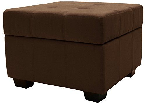Price Tracking For Epic Furnishings Microfiber Suede Upholstered Tufted Padded Hinged Square Storage Ottoman Bench 24 Chocolate Brown Otto 24 Chocolatevc Storage Ottoman Square Storage Ottoman Storage Ottoman Bench