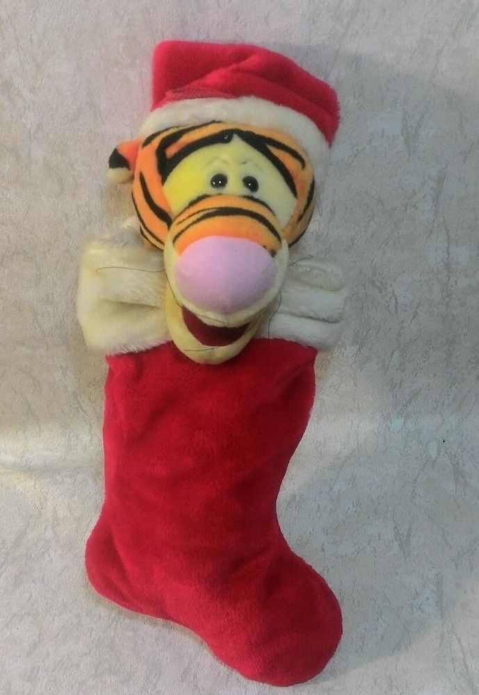 Tigger Christmas Stocking.3d Tigger Christmas Stocking Plush Red White Winnie The