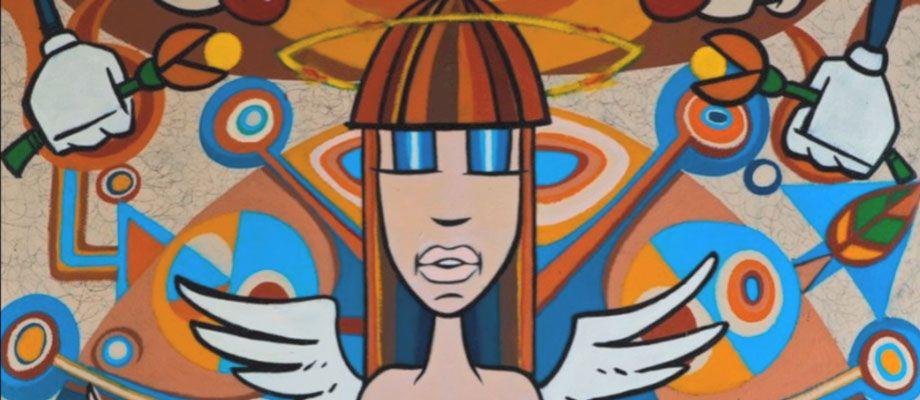 A Mural From Miami Artist David Lebo Lebatard Known As An Innovator Of Postmodern Cartoon Expressionism Art Loft Art Art Organization