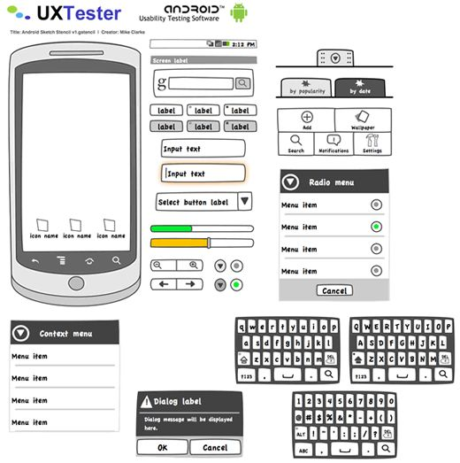 free wireframing kits ui design kits pdfs and resources - Android Mockup Tool Free