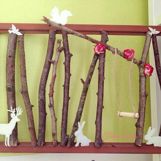 🐿🐰Ma petite forêt... #nature #balançoire #KüçükOrman #foret #orman #cerf #ecureuil #oiseaux #lapin #kuş #tavşan #flowers 🦌🕊