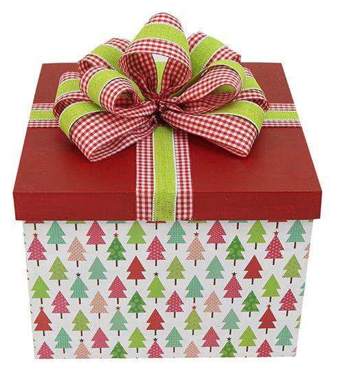 Caja de regalo navide a roja mo o navidad 2014 for Decoracion navidena