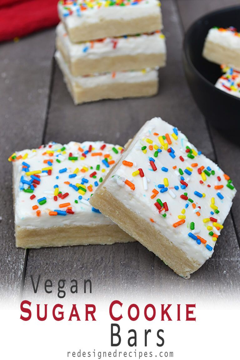 Photo of Soft Vegan Sugar Cookie Bars – Redesigned Recipes