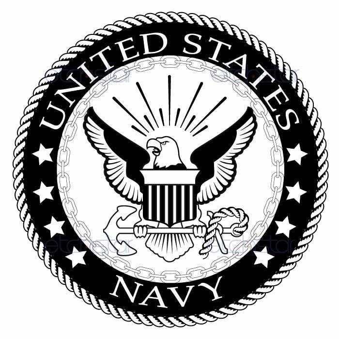 us navy large back patch black & white for vest jacket 10