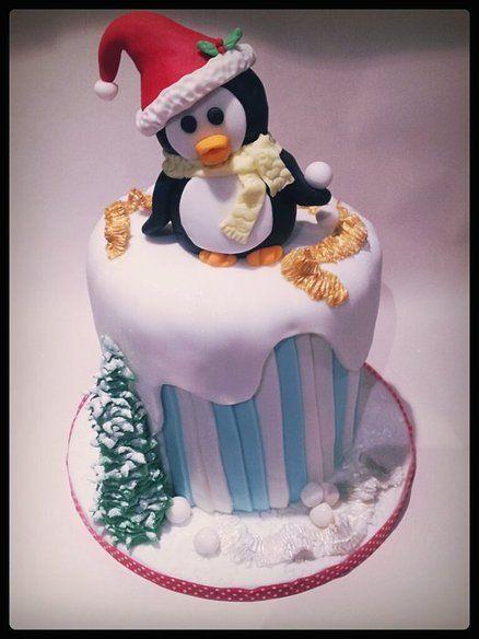 Birthday cake penguin
