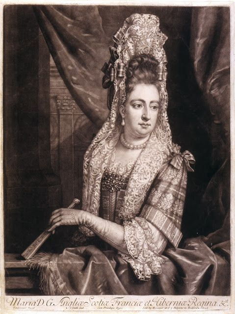Mary II, engraving by John Smith after a painting by Jan van der Vaardt