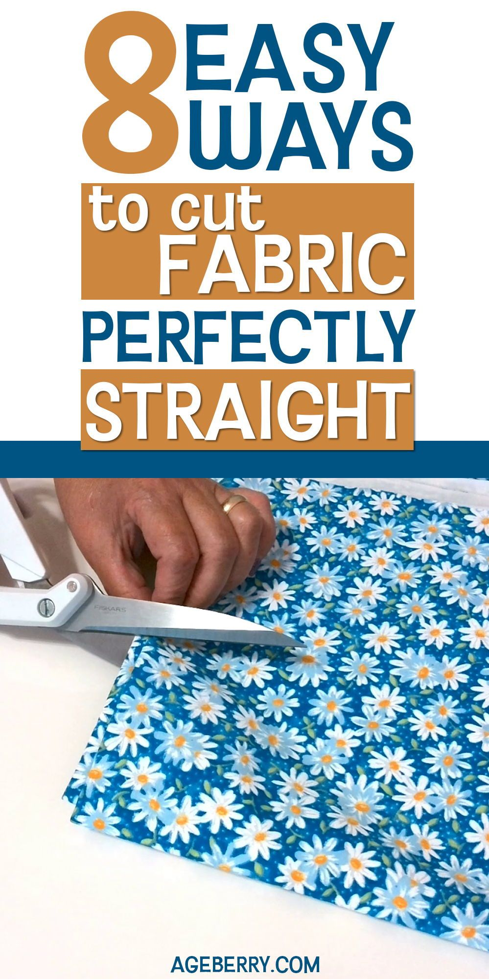How to cut fabric straight #sewing