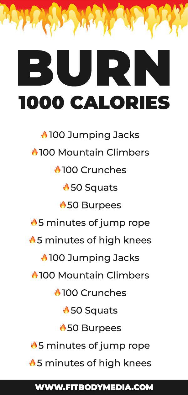 The Burn 1,000 Calories At-Home Workout | Burn 1000 ...