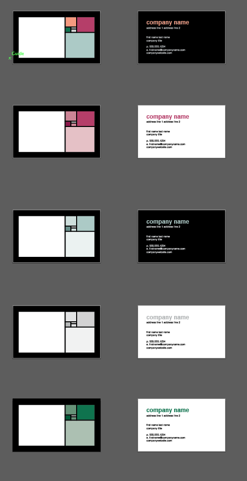 Colorful Squares Business Card #Design | Design Tool Templates ...