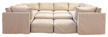 Cobble Hill Union Square Sectional Contemporary Sectional