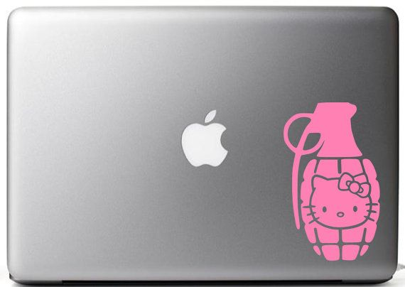 Hello Kitty Grenade inspired vinyl decal by NoBubbles on Etsy, $3.00