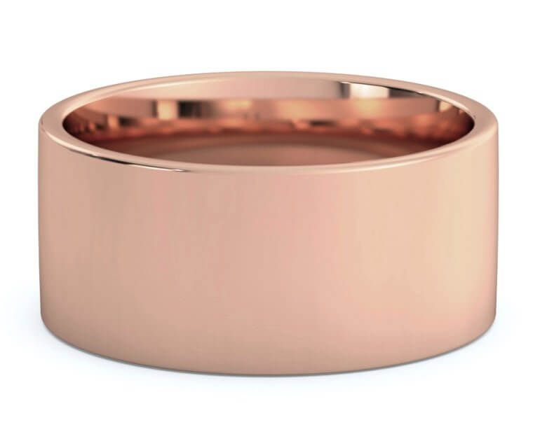 10mm 10k Rose Gold Flat Comfort Fit Wedding Band Rose Gold Flats Gold Flats Comfort Fit Wedding Band