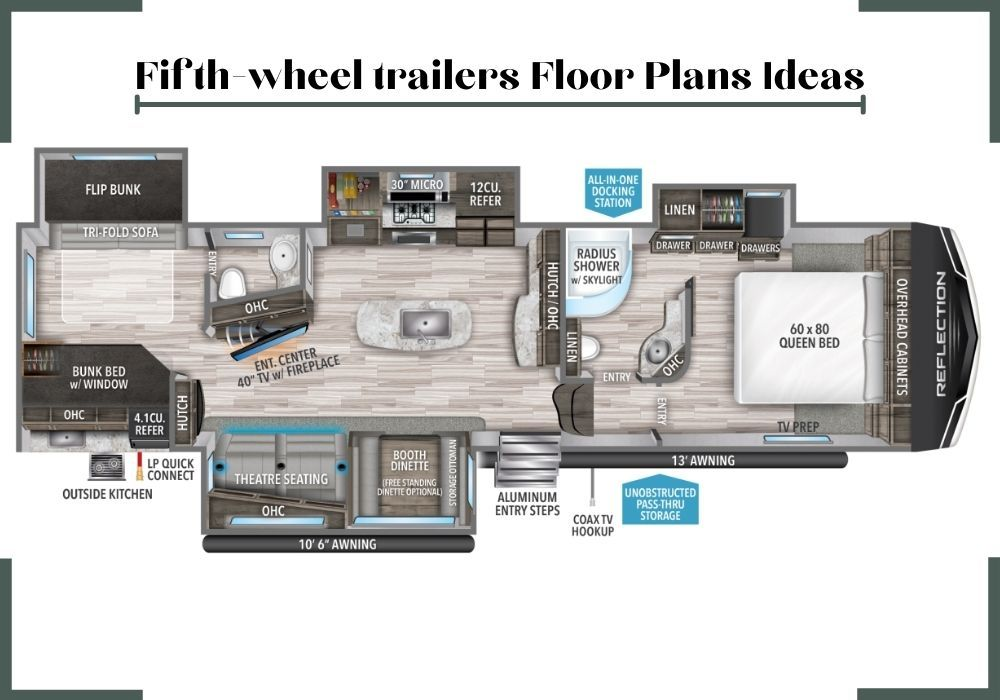 Checkout The Floorplans For The Grand Design Fifth Wheel Reflection Start Your Search For Your Dream Rv Here See Vintage Trailers Rvs For Sale Cool Campers