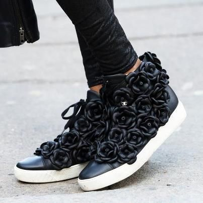 i might just get on this sneaker bandwagon after all...    chanel floral  sneakers 27a73d6f6ff0