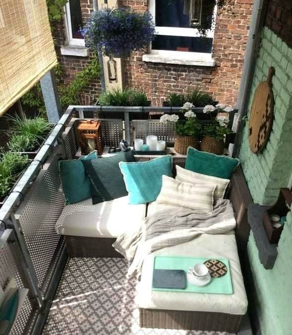 10+ Ideen fuer kleine balkone ideen
