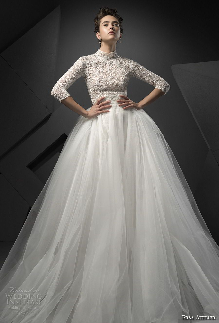 Wedding dresses with train  Ersa Atelier Spring  Wedding Dresses u ucMiss Mistud Bridal