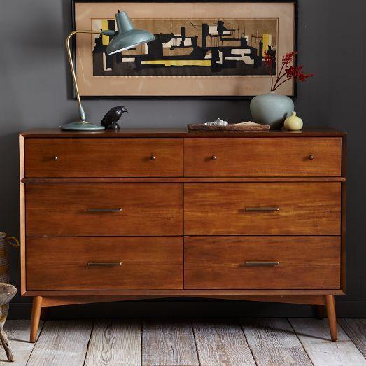 Best Mid Century 6 Drawer Dresser Acorn West Elm Decor 640 x 480