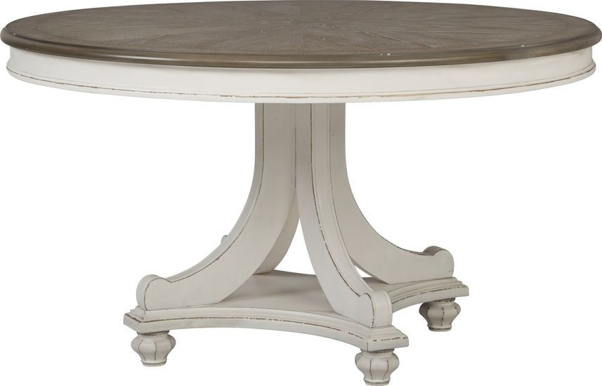 French Market White Round Dining Table Rooms To Go In 2020 Dining Table Round Dining Table White Round Dining Table