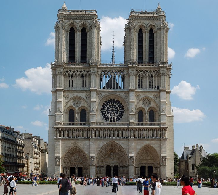 Notre Dame De Paris Front West View With Images Iconic