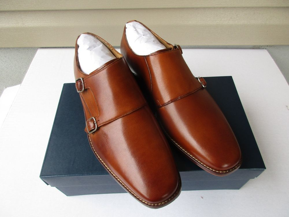 3c7a667e4e657 Cole Haan Giraldo Double Monk Strap Shoe 9 M British Tan New  260  ColeHaan   LoafersSlipOns  Formal