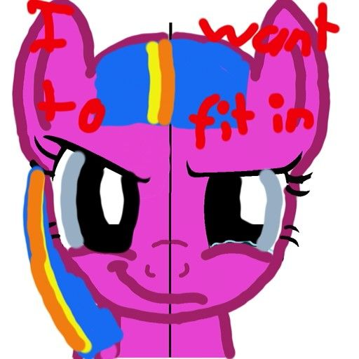 The two sides of my OC, Heartdash