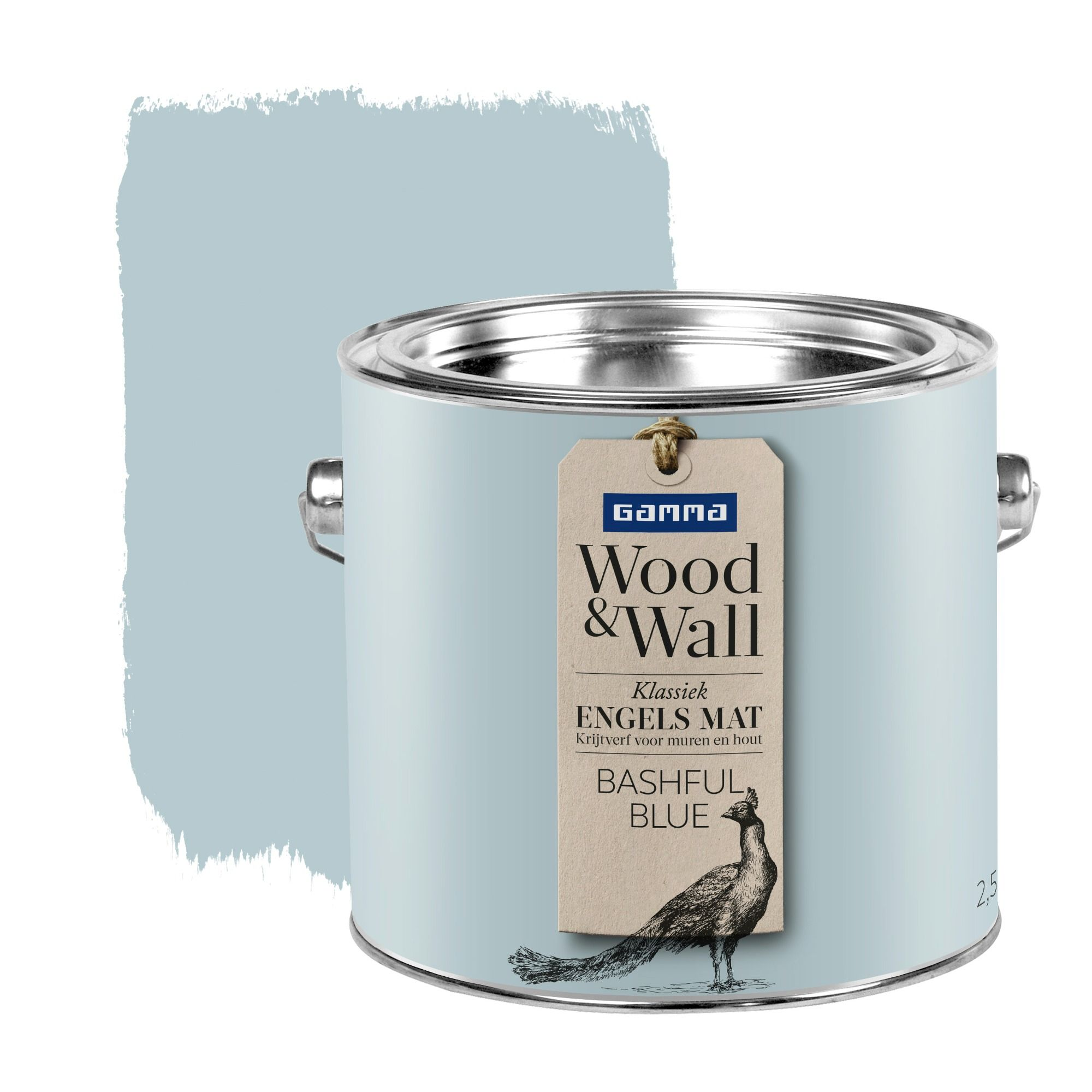 Gamma Verf Wit Gamma Wood Wall Krijtverf Bashful Blue 2 5 Liter Illustration In