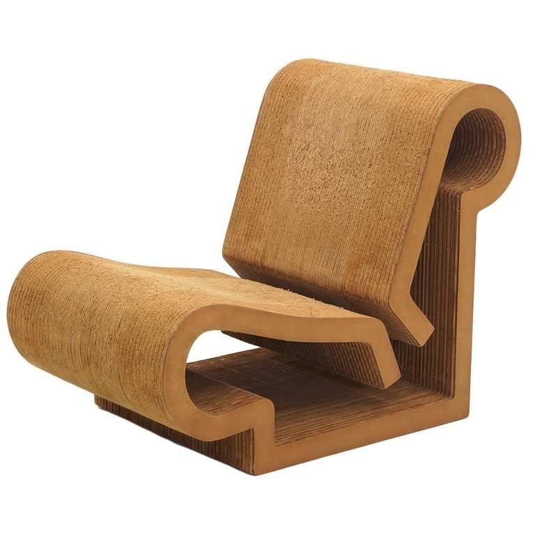 Rare Original Frank Gehry, Easy Edges, Cardboard Contour Chair Good Ideas