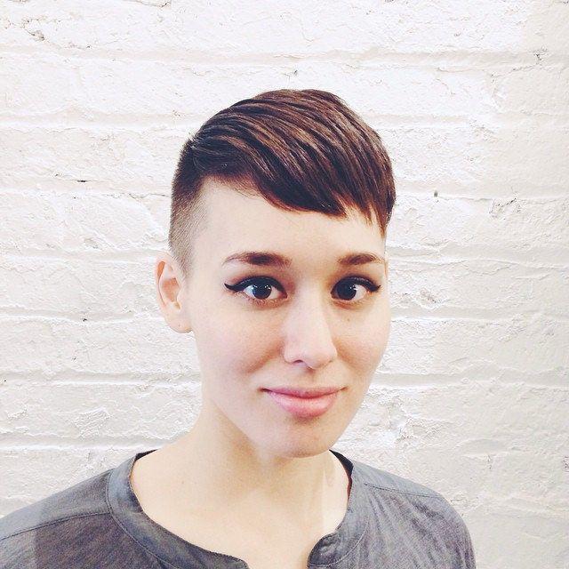 Bowl hair cut lesbian