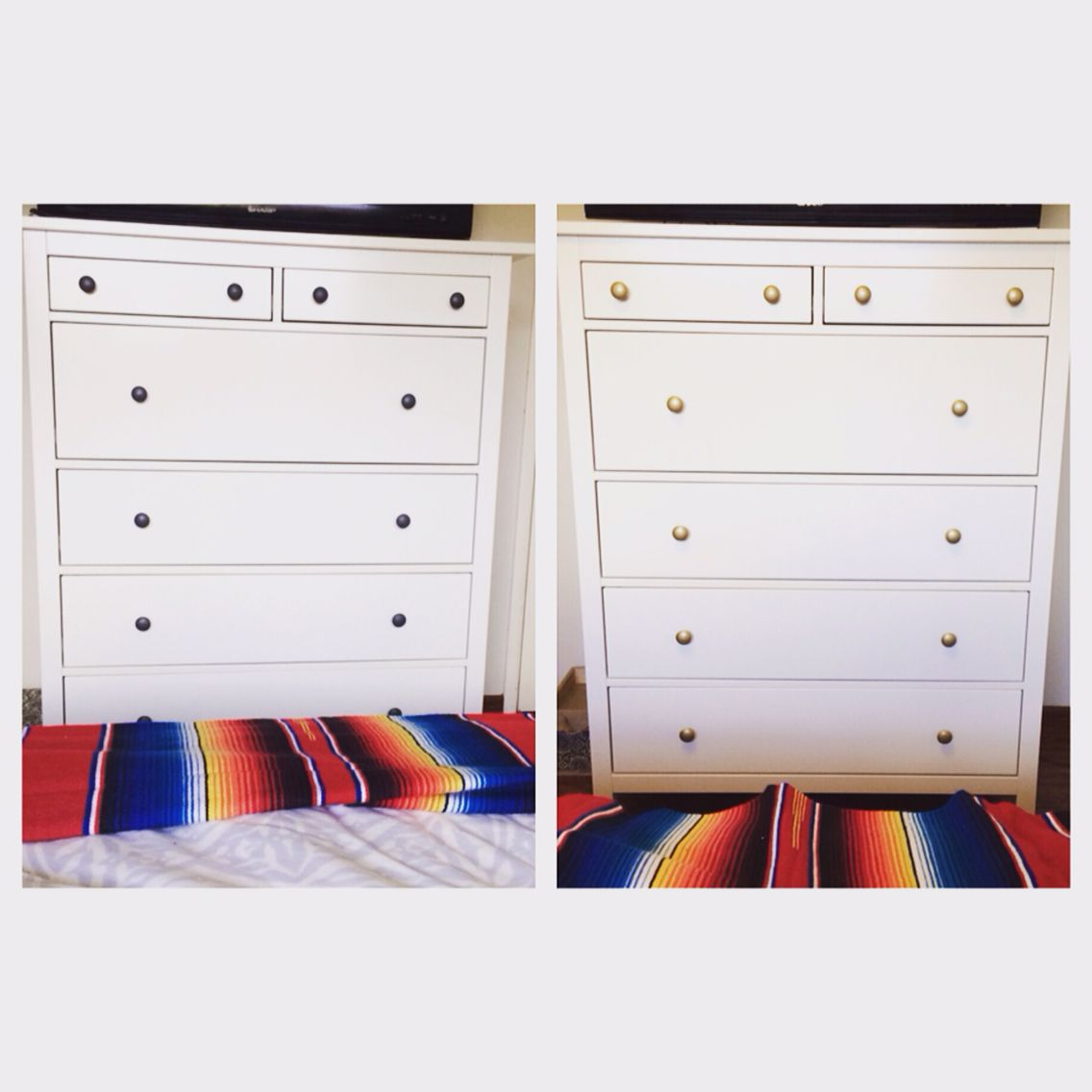 Easy way to modernize update an ikea hemnes spray for Ikea wohnwand weiay