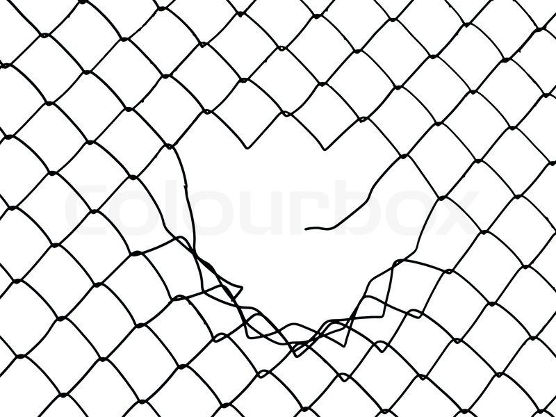 Interesting Fence Drawing Link And Decorating