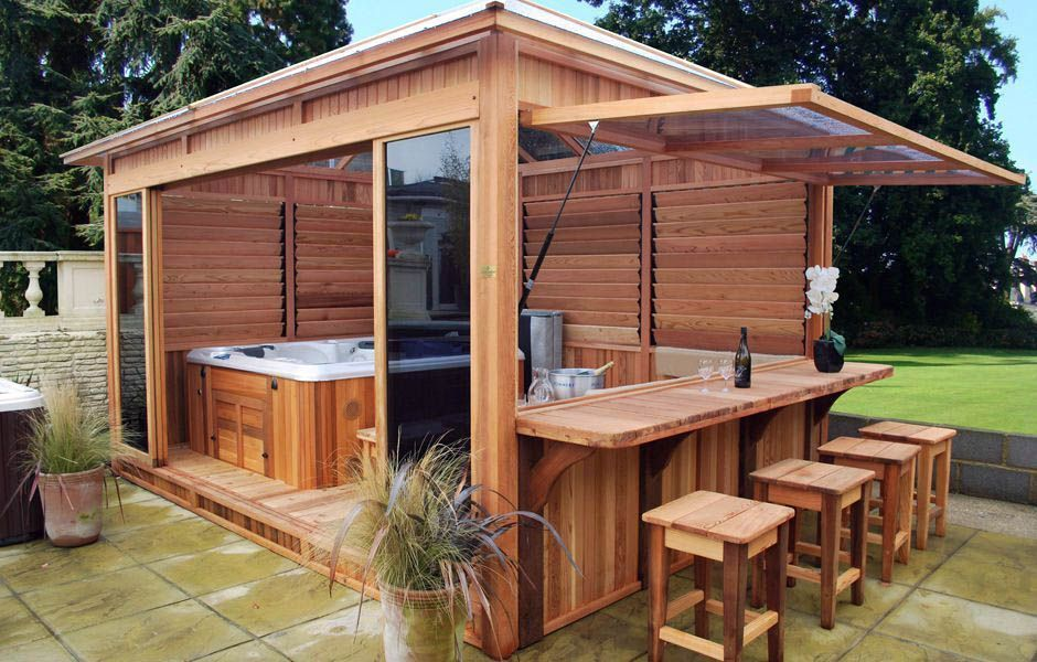 45 awesome outdoor kitchen ideas and design hot tub backyard hot tub gazebo backyard on outdoor kitchen gazebo ideas id=72713