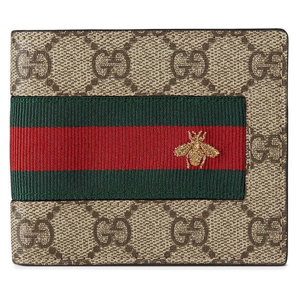 454950f1b1a Gucci Web Gg Supreme Wallet (1.215 BRL) ❤ liked on Polyvore featuring men s  fashion