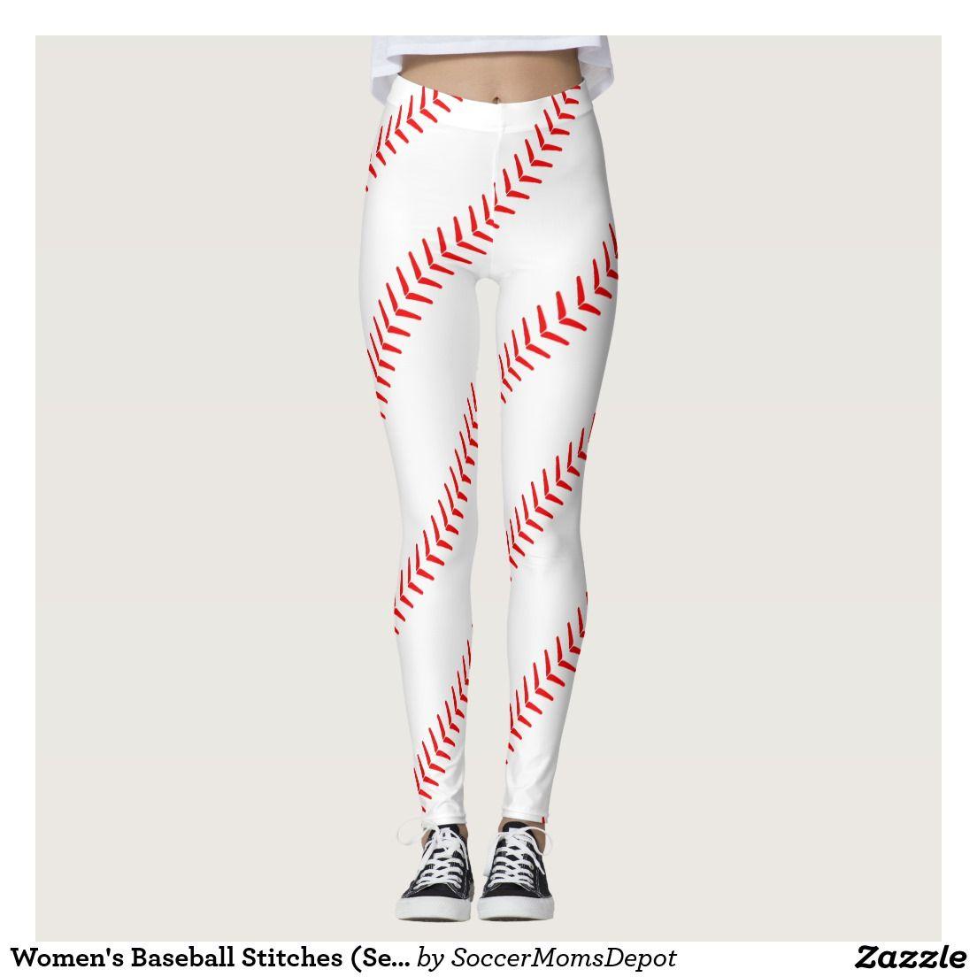 5f6e95adb304b Women's Baseball Stitches (Seams) White Leggings #baseball #leggings  #baseballoutfit #baseballleggings #baseballmom #baseballgirl