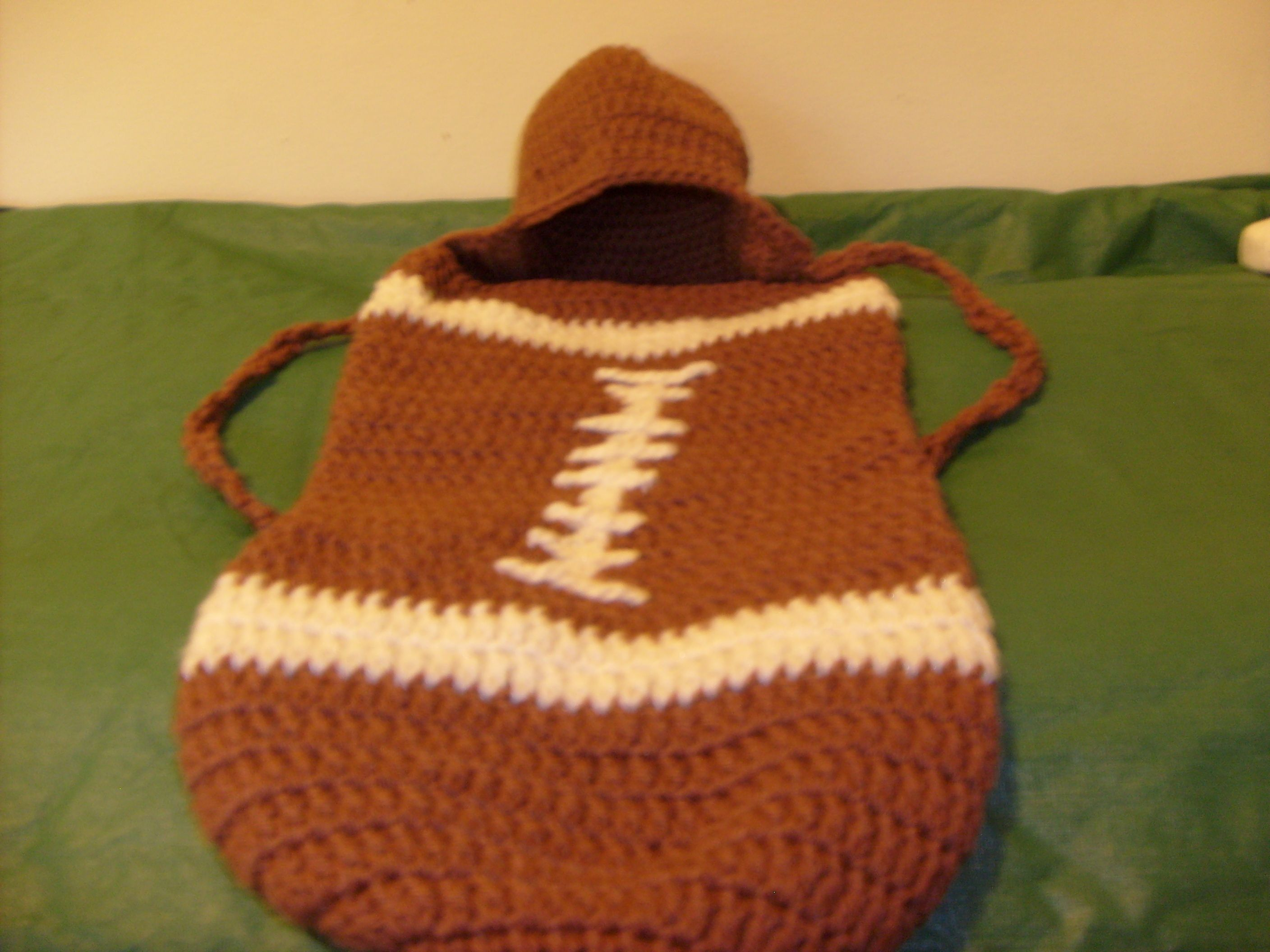 Football Cocoon and Hat. | My Finished Crochet Projects by Cindy ...