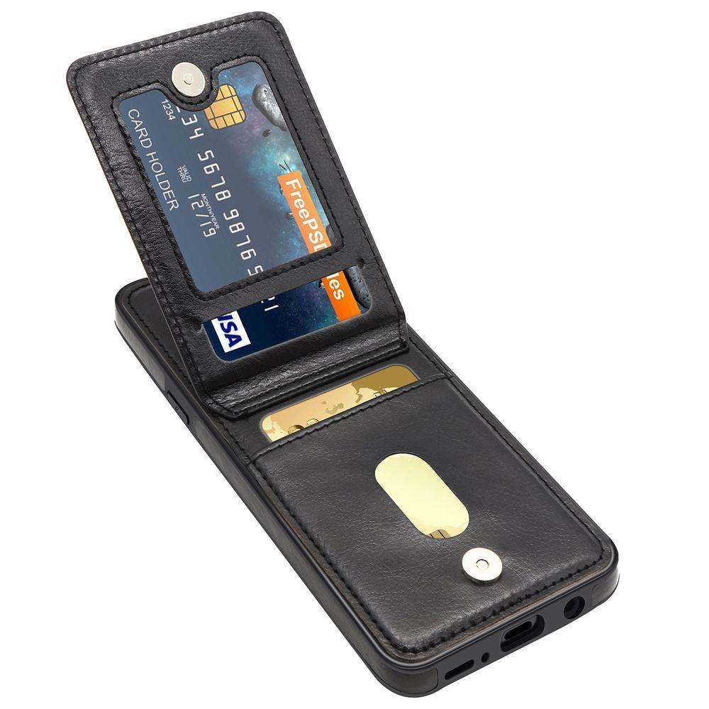 Galaxy S9 Holder Case Premium Leather Folio Flip Wallet
