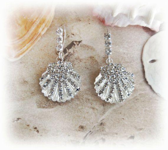 Seas Bridal Earrings Beach Wedding Jewelry By All4brides2 38 00 Uhmmmm Yes