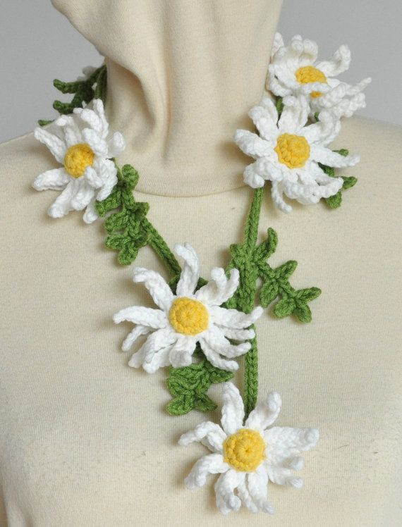 20X.25MM APROx COTTON CROCHET  DAISY WHITE PRETTY TO DECORATE ANY CRAFT