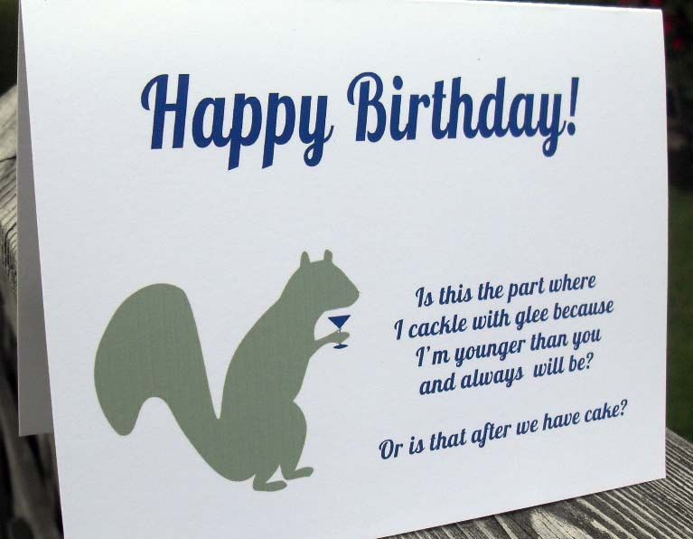 Happy birthday funny card friend brother sister by WryAndGinger – Funny Sister Birthday Cards