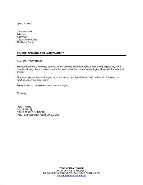 sample business apology letter for late payment the best hashdoc - sample apology letter for being late