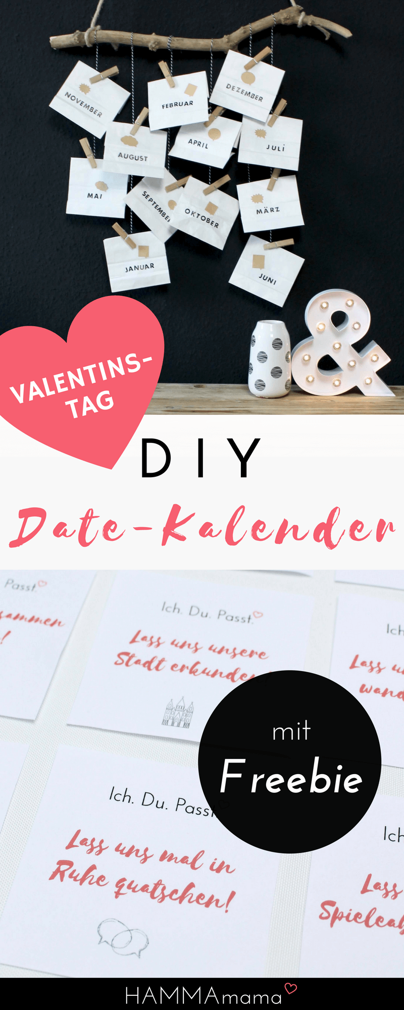 diy zum valentinstag vatertag oder geburtstag mit freebie date kalender selber machen. Black Bedroom Furniture Sets. Home Design Ideas