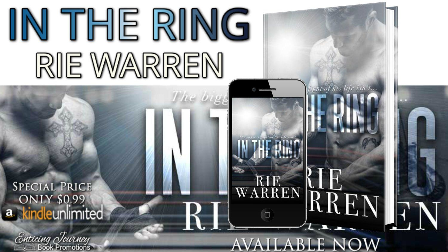 #ReleaseDay • In The Ring (Boxer Book 1)  by Rie Warren • Excerpt • http://amzn.to/2fgRom1 Teasers • Review • Giveaway