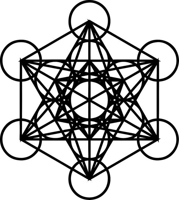 Metatrons Cube Sacred Geometry Die Cut Decal Car Window Wall Bumper