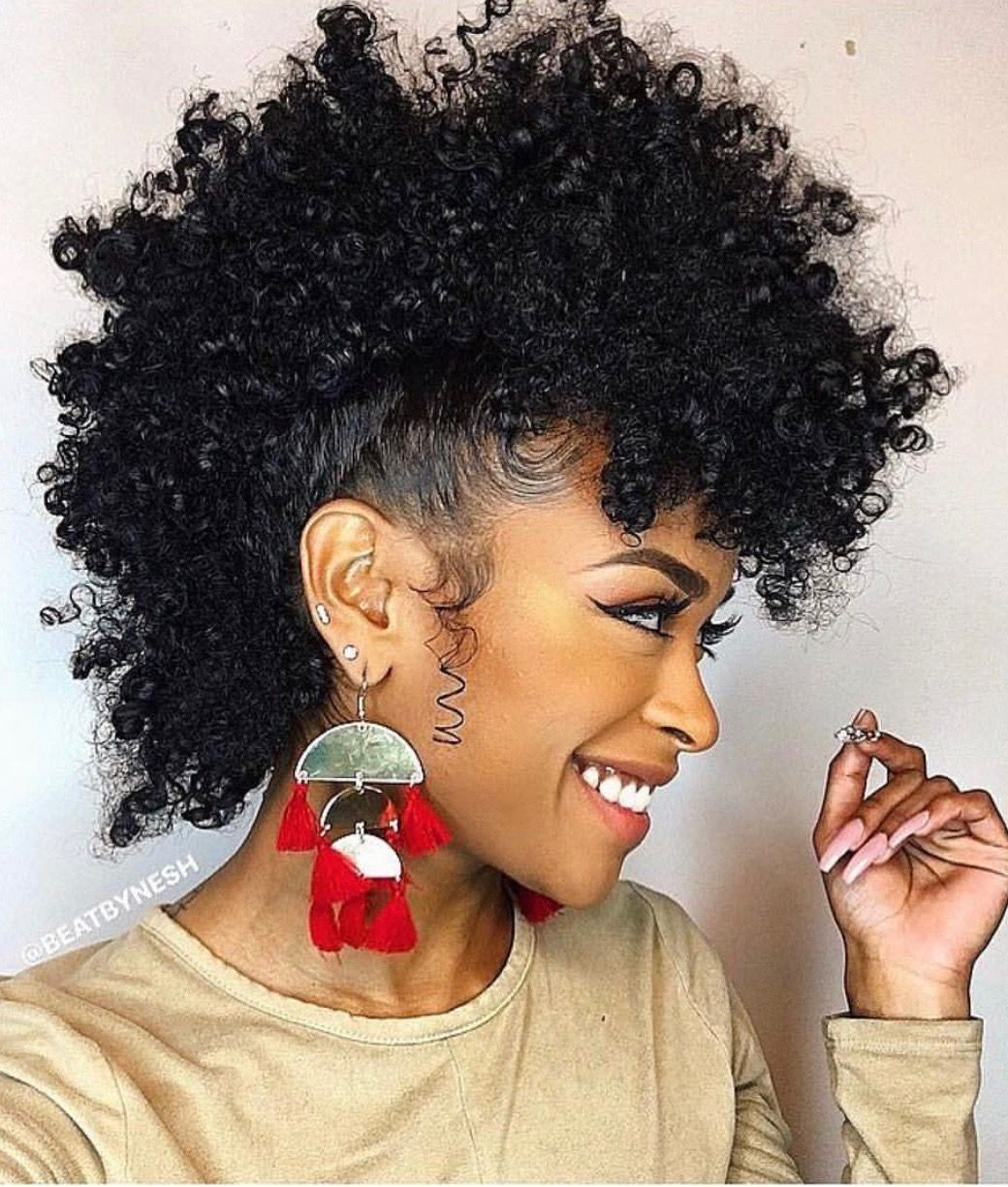 Natural hair faux mohawk pinterest natural hair style and curly