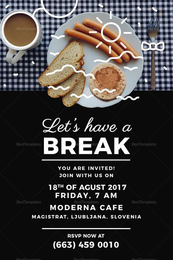 Business Breakfast Invitation Template Invitations Logo Food Breakfast