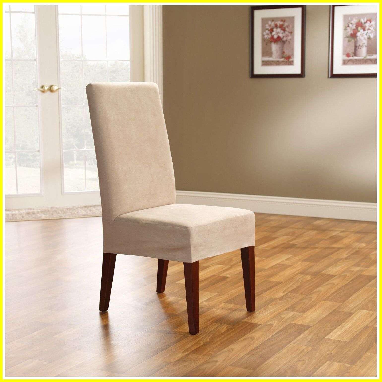 Chairs Dining Room Chair Slipcovers, Surefit Round Back Dining Room Chair Slipcover